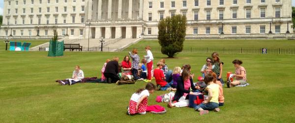 Picnic outside Stormont