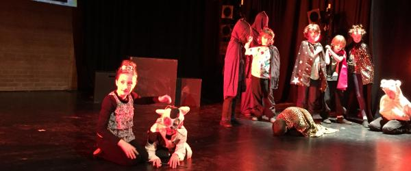 NSKA (HEdNI) drama group performing with Kids in Control at the Lyric Theatre